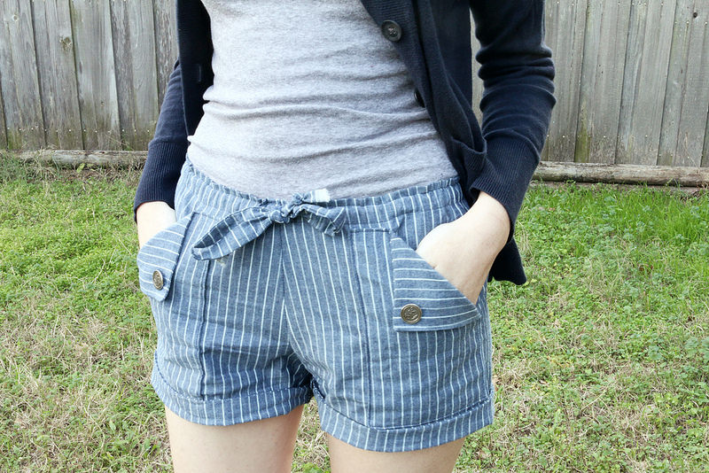 Oceanside Shorts by Blank Slate Patterns sewn by Dixie DIY