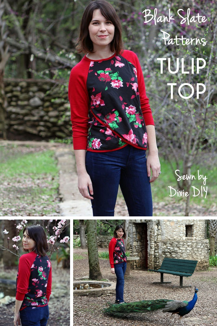 Tulip Top by Blank Slate Patterns sewn by Dixie DIY