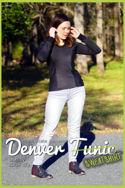 Denver Tunic by Blank Slate Patterns sewn by Dixie DIY