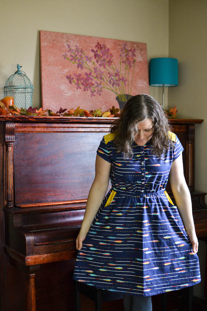 Pristine Swing Dress by Blank Slate Patterns sewn by The Crazy Tailor