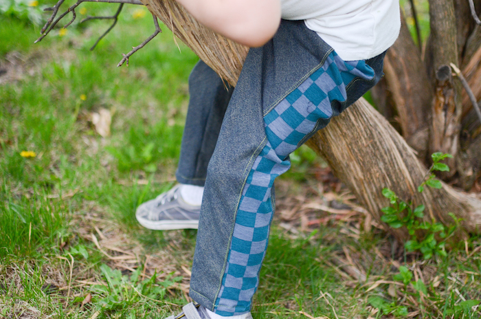 Super Skinny Pants by Blank Slate Patterns sewn by If Only They Would Nap