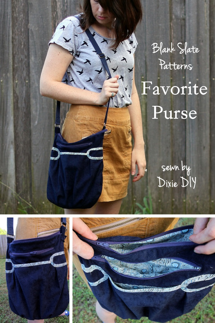Favorite Purse by Blank Slate Patterns sewn by Dixie DIY