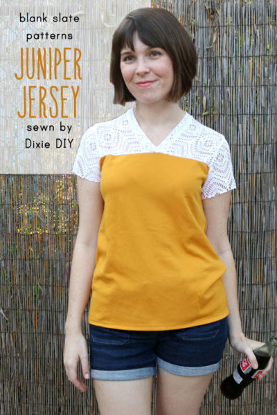 Juniper Jersey by Blank Slate Patterns sewn by Dixie DIY