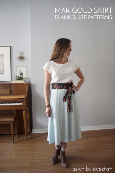 Marigold Skirt by Blank Slate Patterns sewn by SweetKM