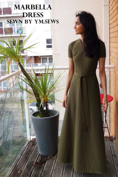 Marabella Dress by Blank Slate Patterns sewn by _ym.sews_