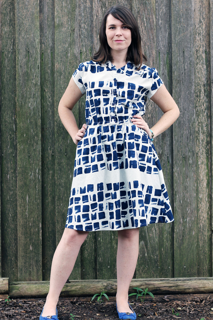 Marigold Dress by Blank Slate Patterns sewn by Dixie DIY