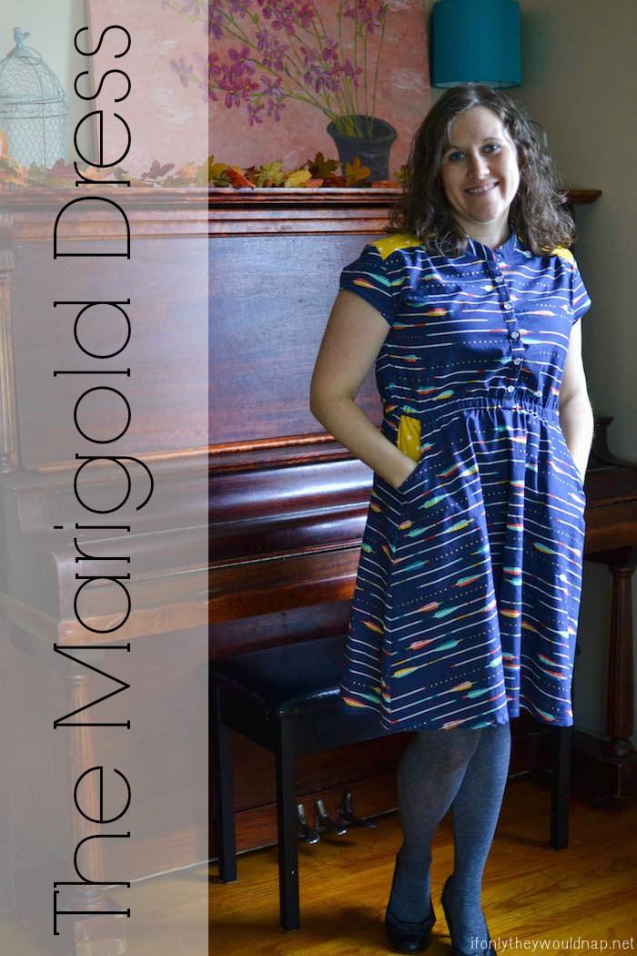 Marigold Dress by Blank Slate Patterns sewn by If Only They Would Nap