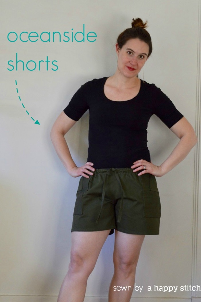 Oceanside Shorts by Blank Slate Patterns sewn by A Happy Stitch