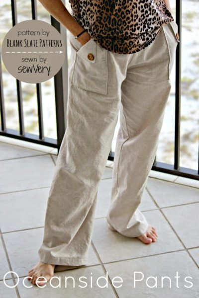Oceanside Pants by Blank Slate Patterns sewn by sewVery