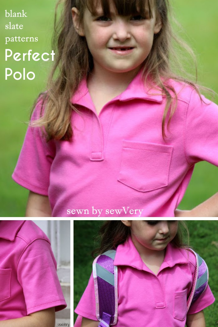 Perfect Polo by Blank Slate Patterns sewn by sewVery