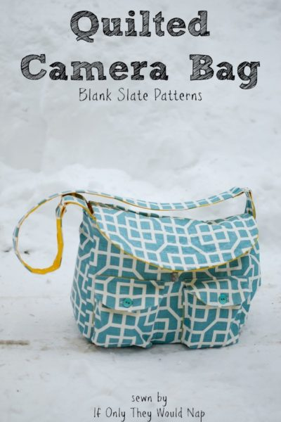 Quilted Camera Bag by Blank Slate Patterns sewn by