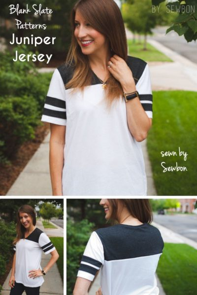 Juniper Jersey by Blank Slate Patterns sewn by Sewbon