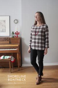 Shoreline Boatneck by Blank Slate Patterns sewn by SweetKM