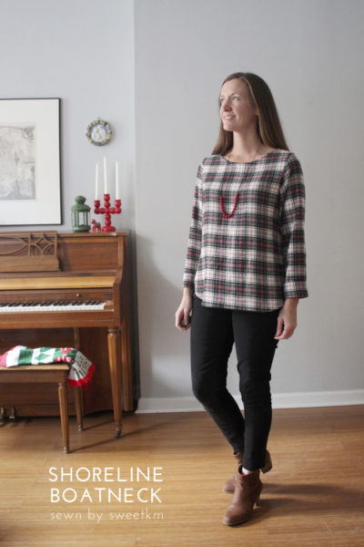 Shoreline Boatneck by Blank Slate Patterns sewn by SweetKM