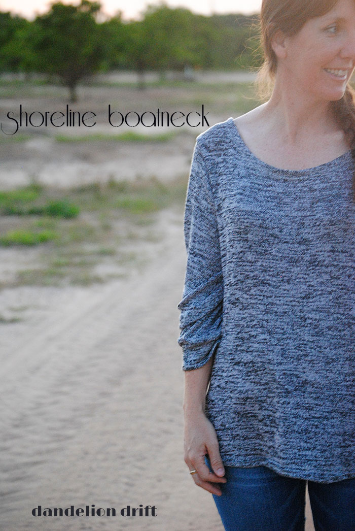Shoreline Boatneck by Blank Slate Patterns sewn by Dandelion Drift