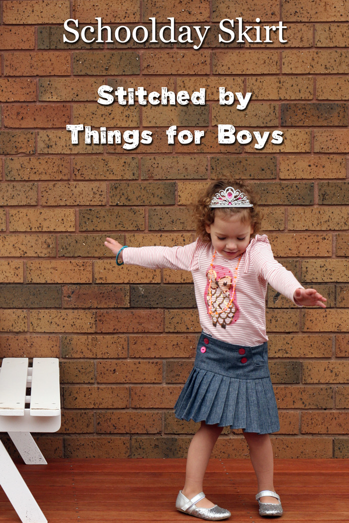 Schoolday Skirt by Blank Slate Patterns sewn by Things for Boys