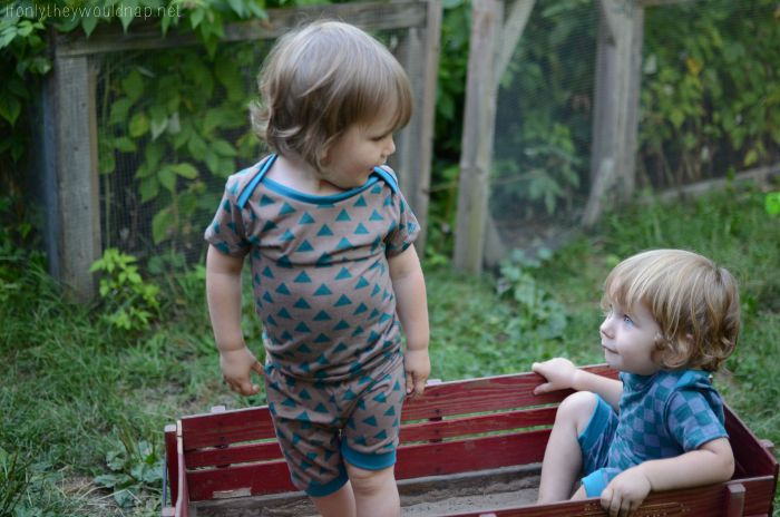 Sleepover Pajamas by Blank Slate Patterns sewn by If Only They Would Nap
