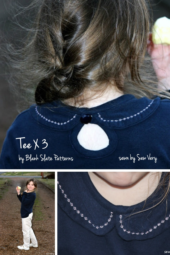 Tee X 3 by Blank Slate Patterns sewn by Sew Very