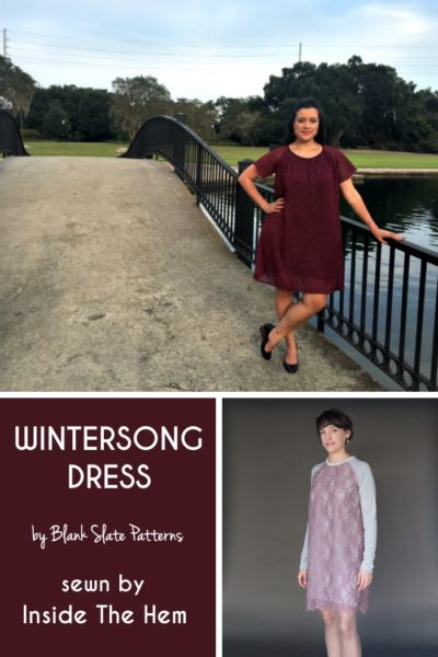 Wintersong Dress by Blank Slate Patterns sewn by Inside the Hem