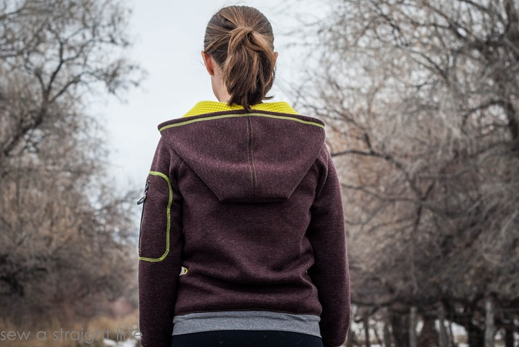 Zinnia Jacket by Blank Slate Patterns sewn by Sew a Straight Line