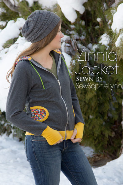 Zinnia Jacket by Blank Slate Patterns sewn by SewSophieLynn