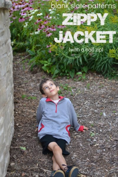 Zippy Jacket by Blank Slate Patterns sewn by If Only They Would Nap