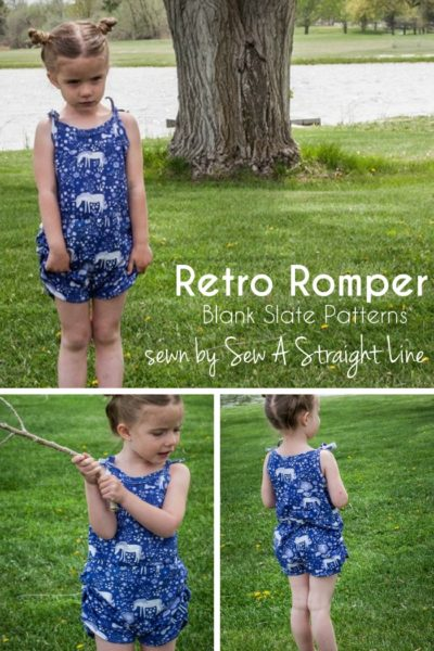 Retro Romper by Blank Slate Patterns Sewn by Sew A Straight Line