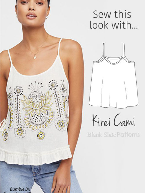 Sew This Look with Blank Slate Patterns Kirei Cami sewing pattern