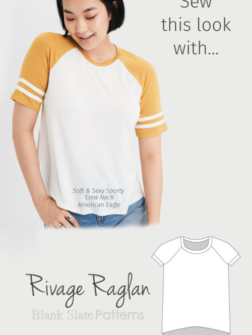 Sew This Look with Blank Slate Patterns Rivage Raglan sewing pattern
