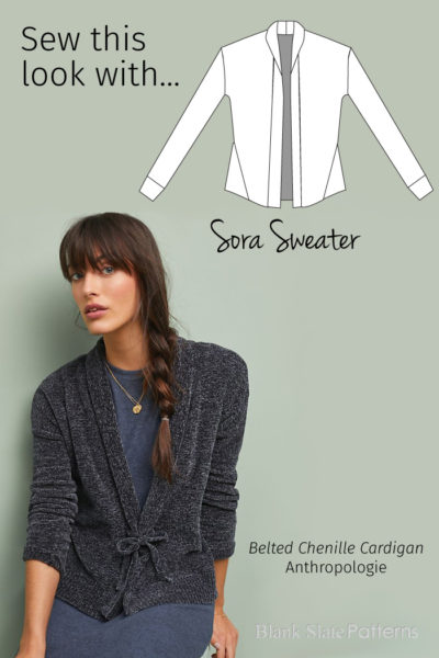 Sew This Anthropologie Look with Blank Slate Patterns Sora Sweater sewing pattern