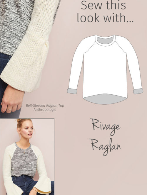Sew This Anthropologie Sweater Look with Blank Slate Patterns' Rivage Raglan sewing pattern
