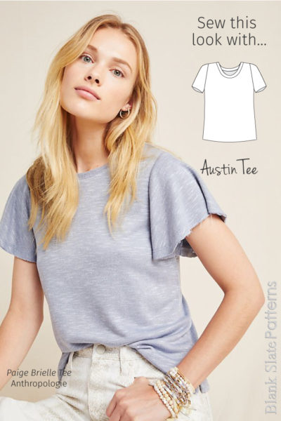 Sew This Anthropologie Look with the Austin Tee from Blank Slate Patterns