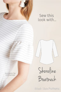 Sew This Anthropologie Look with the Shoreline Boatneck from Blank Slate Patterns