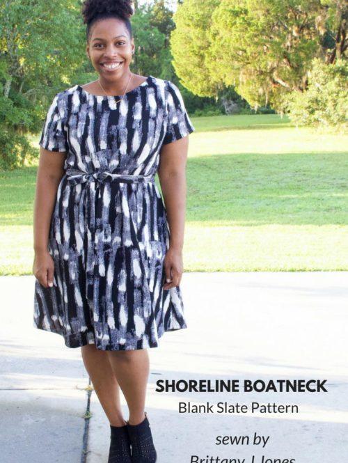 Shoreline Boatneck Dress By Brittany Jones