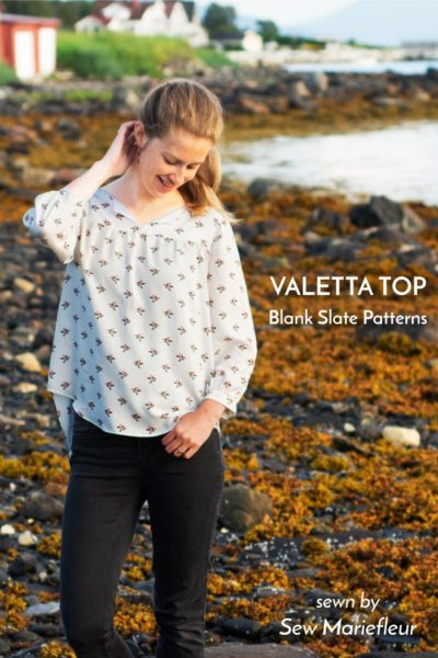 Valetta Top worn by Sew Mariefleur