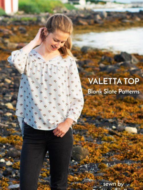 Valetta Top worn by Sew Mariefleur
