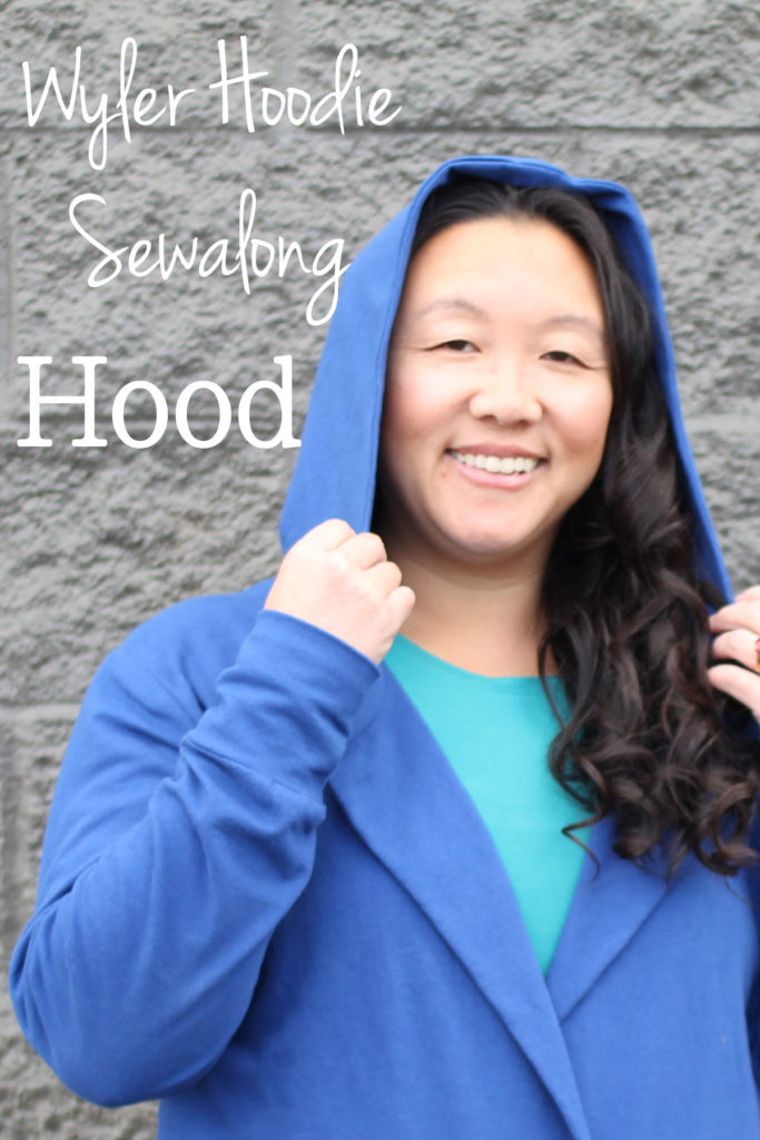 How to sew the hood for the Wyler Hoodie pattern by Blank Slate Patterns - sewalong tutorial